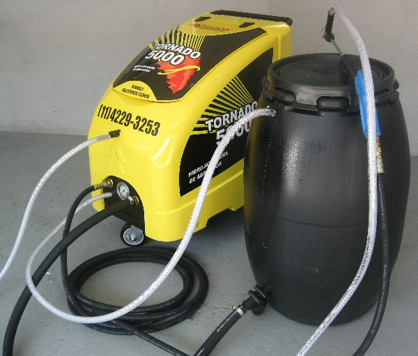 Hidrojateadora de abrasivos elétrica diesel gasolina Tornado 5000